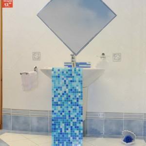 Fliesen Bad weiß_blau